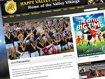Vikings Football Club – Website Design